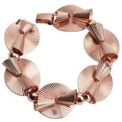 Napier Retro Pink Gold Link Bracelet