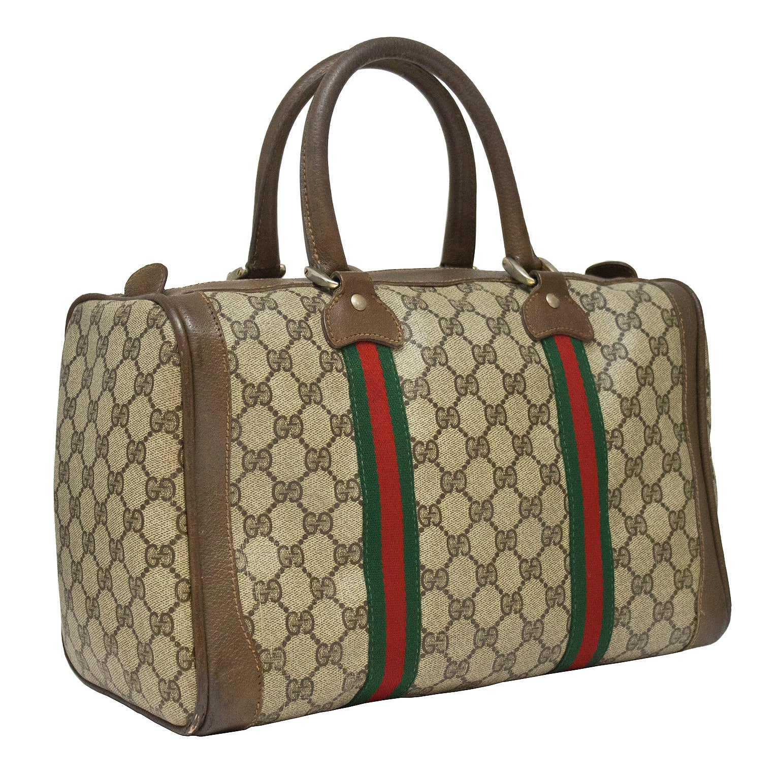 71379d770941 1970's Gucci Monogram Boston Bag at 1stdibs
