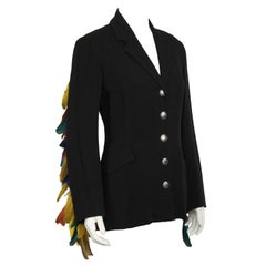 1980's Ozbek Blazer with Feathers