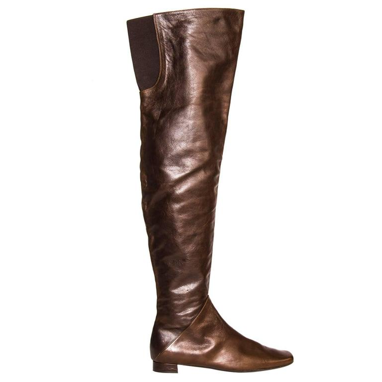 Marni Brown Thigh High Boots