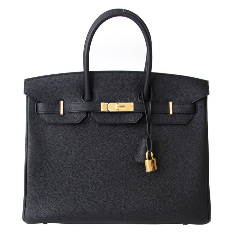 Brand New Hermes Birkin Black Togo 35 GHW  For Sale