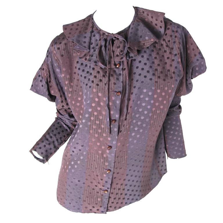 1970s Ungaro Silk Blouse  For Sale
