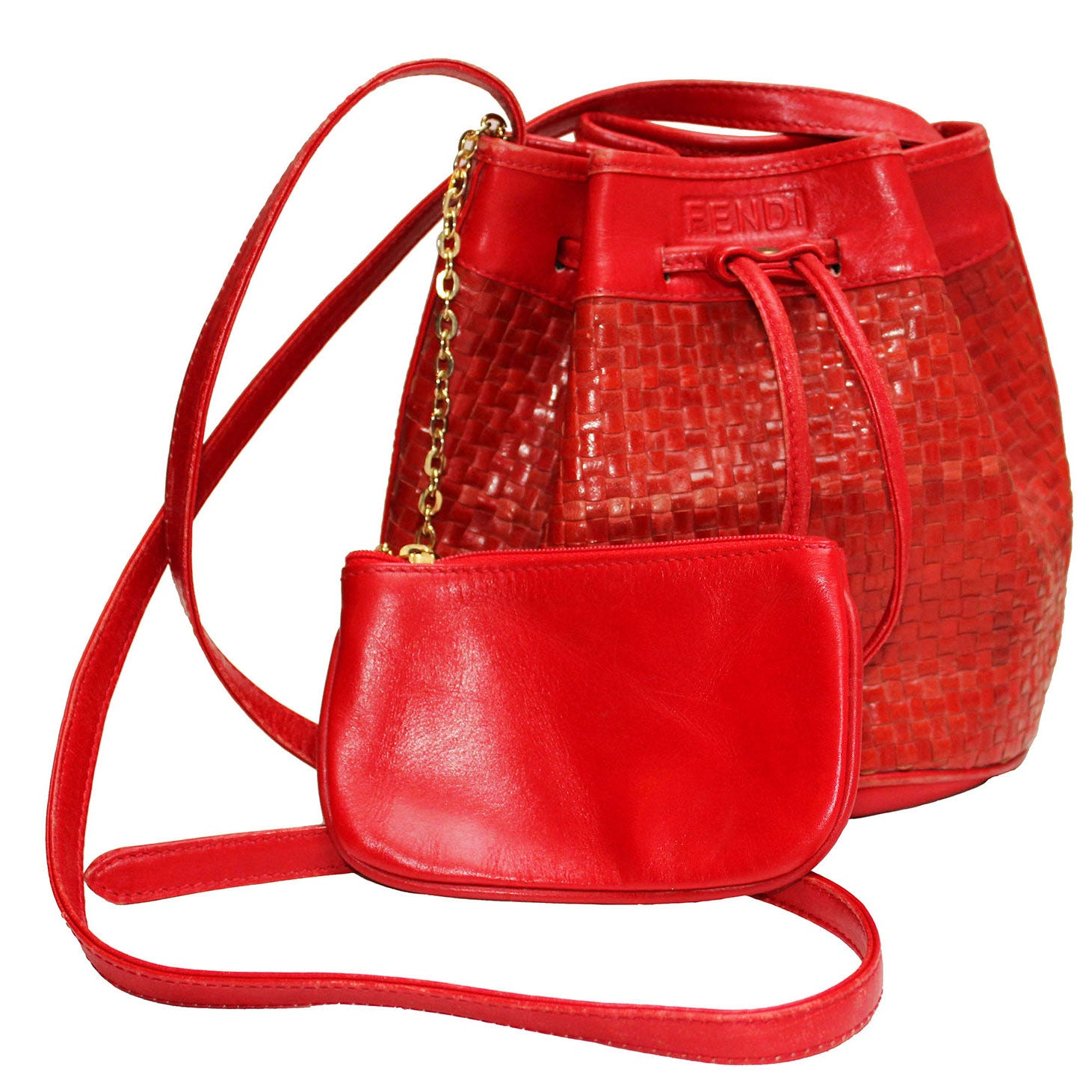 1970s Fendi Red Woven Leather Bucket Bag at 1stdibs bffc898395f92