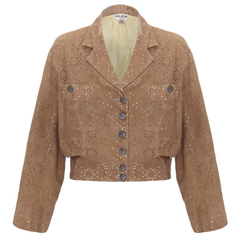 1980s Alaïa Khaki Lambskin Jacket
