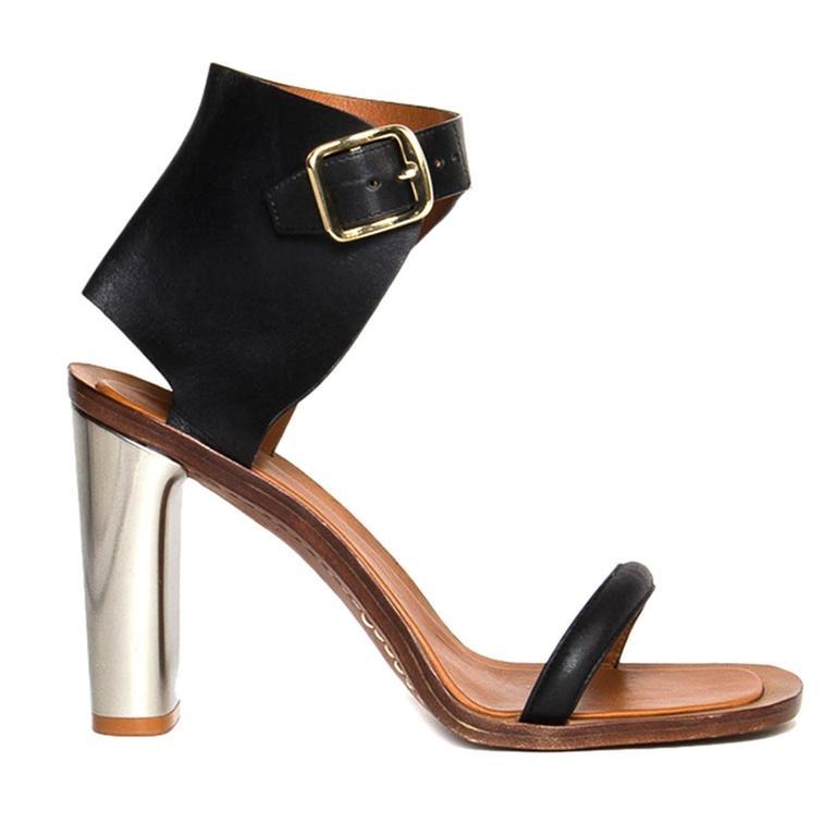 Celine Black & Silver Sandals