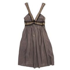 Lanvin Grey Silk Tank Dress