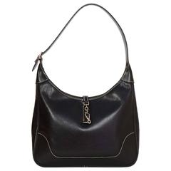 Hermes Black Epsom Leather 31cm Trim Shoulder Bag PHW