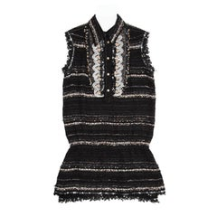 Chanel Multicolor Cotton Sleeveless Tunic Top