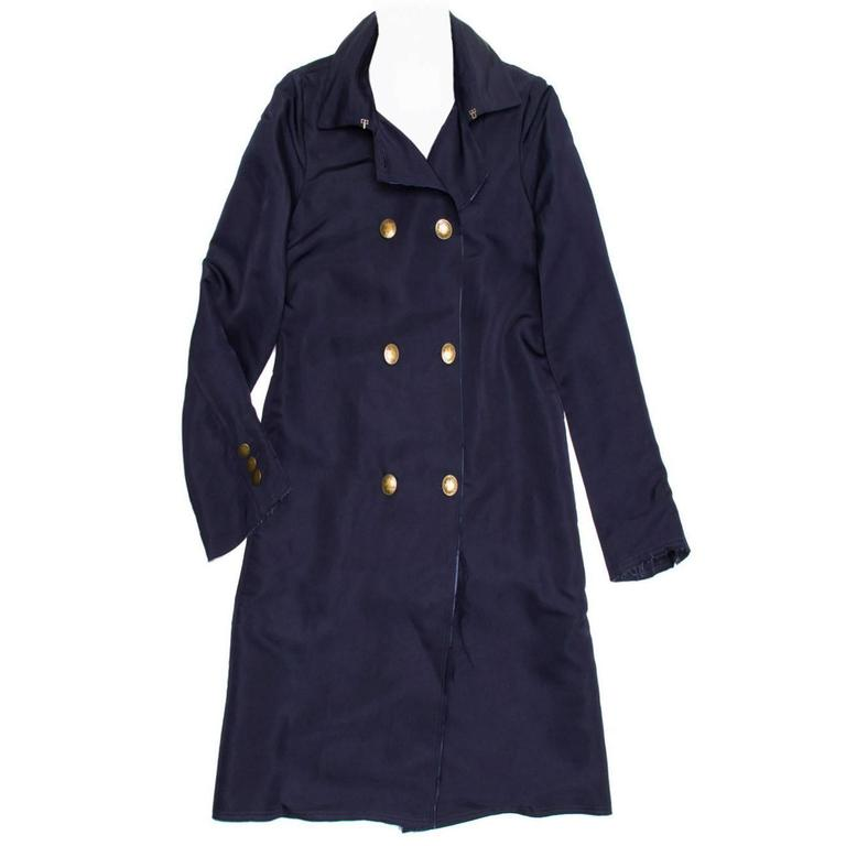 Lanvin Navy Double Breasted Overcoat 1