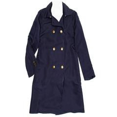 Lanvin Navy Double Breasted Overcoat
