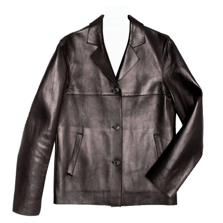 Prada Black & Olive Leather Jacket