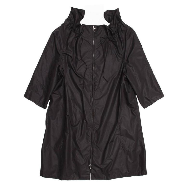 Lanvin Black Nylon Raincoat