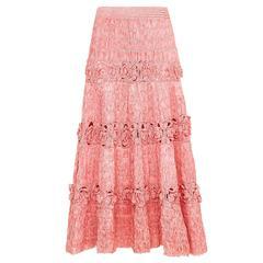 1950s Pink Raffia Skirt