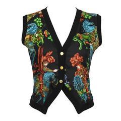 1990's Hermes Knit and Silk Vest