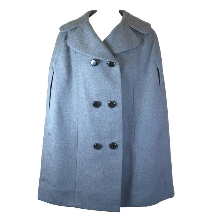 Norman Norell Gray Flannel Cape