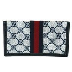 Navy Gucci Logo Billfold
