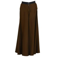 2000's Gaultier Brown Maxi Skirt