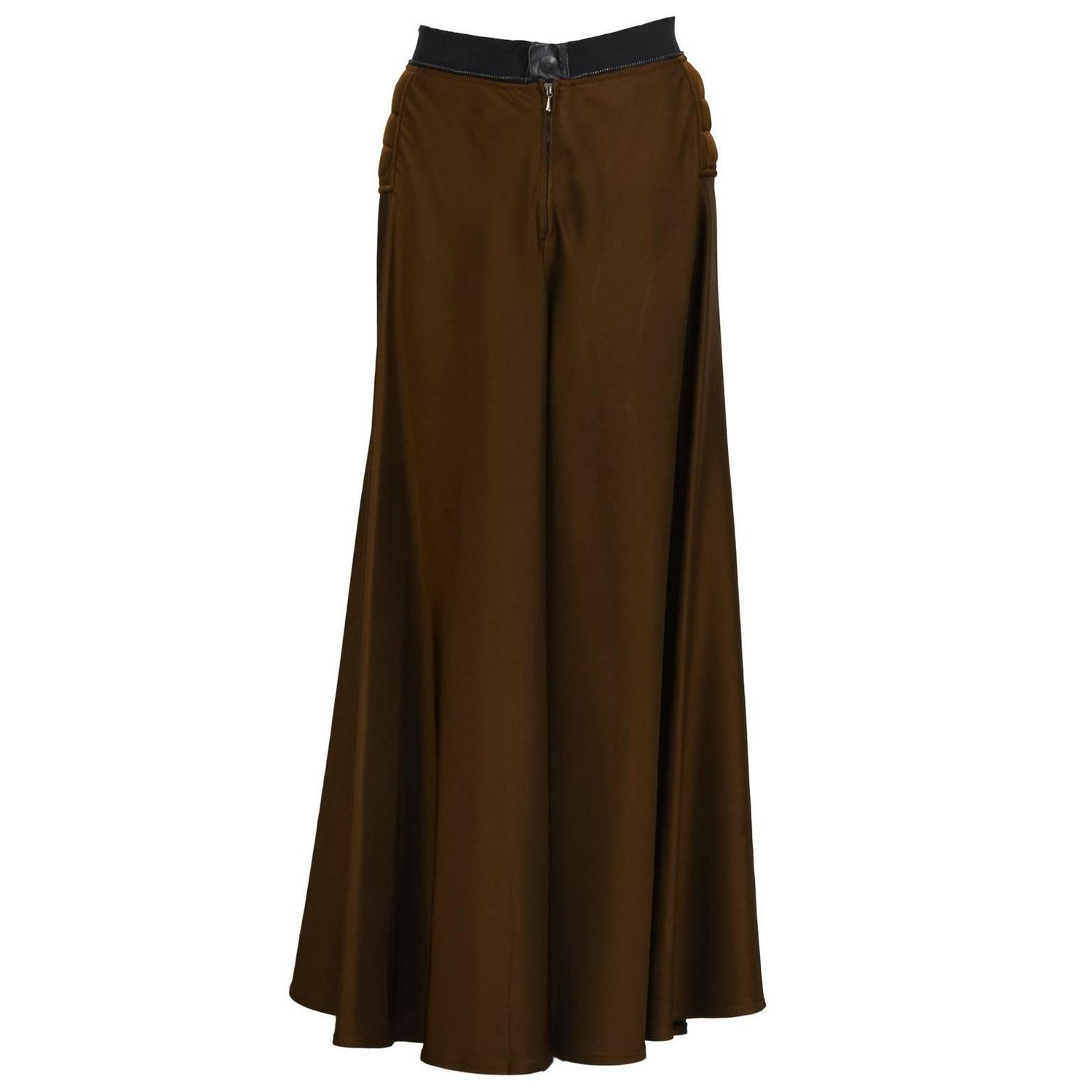 2000 s gaultier brown maxi skirt for sale at 1stdibs