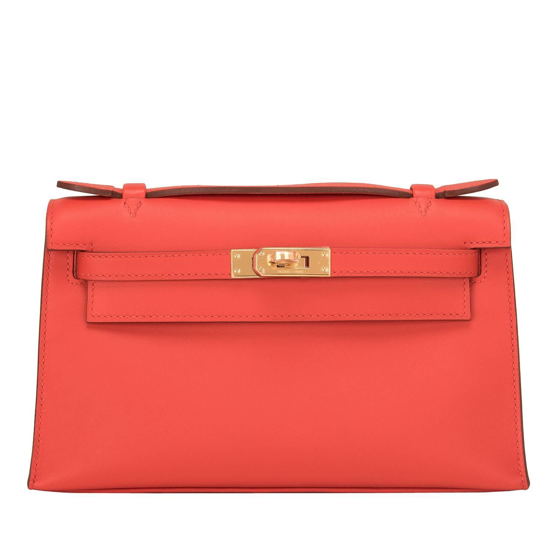 pink hermes birkin bag price - hermes capucine swift mini kelly pochette, hermes blue birkin