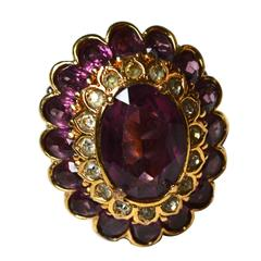 Oversized Vintage Panetta Cocktail Ring