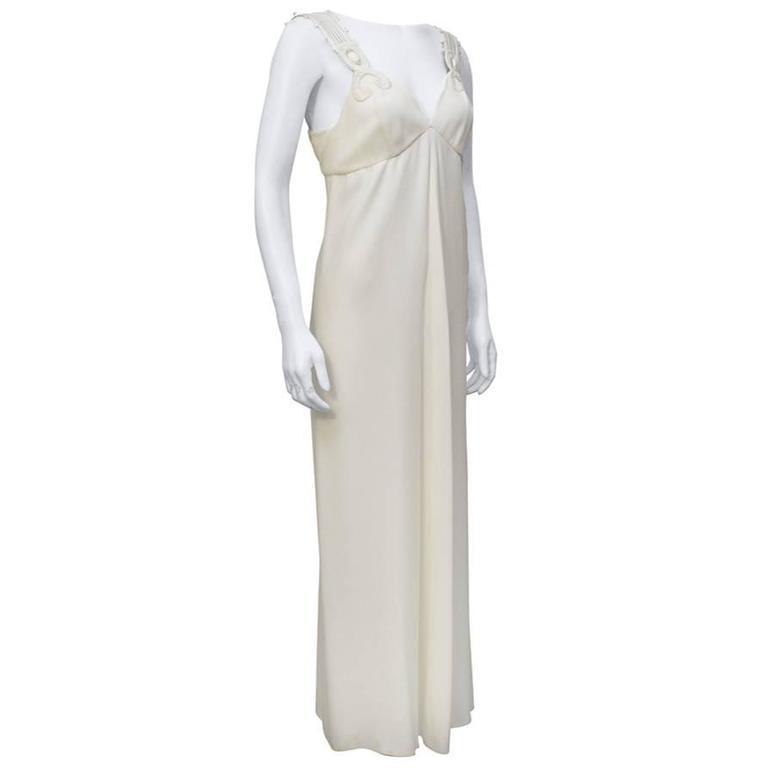 1980's Gianfranco Ferre White Gown