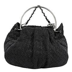 Black Chanel Tweed Tote Bag