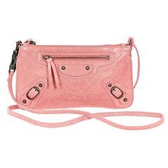 Pink Balenciaga Leather Crossbody Bag
