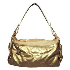 Chanel Metallic Gold Leather Shopper