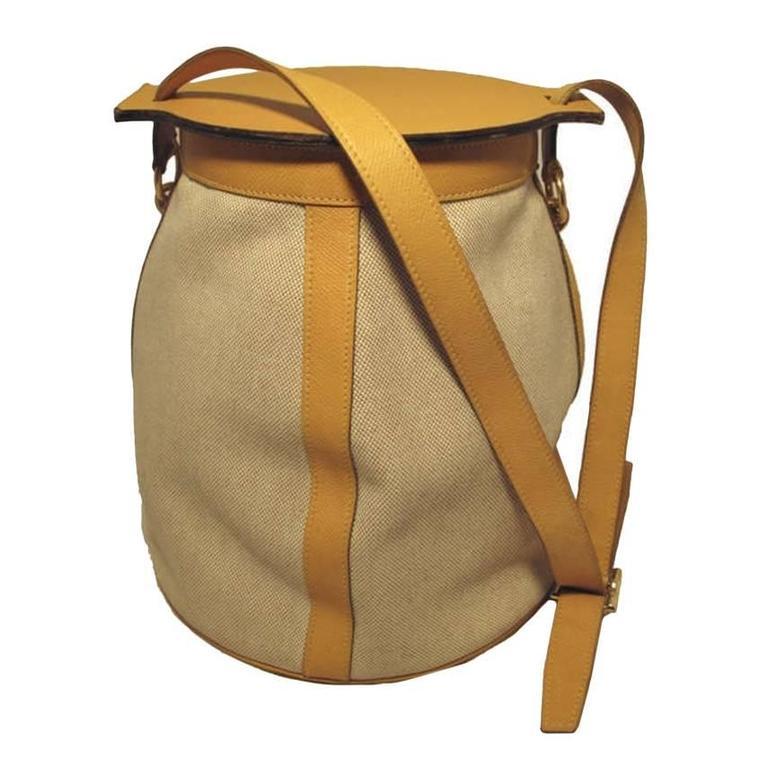 Hermes Rare Vintage Feedbag Shoulder Style Production Sample 1