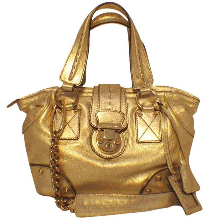 Dolce & Gabbana Gold Shoulder Bag