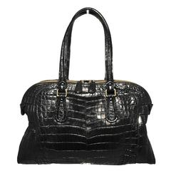 Gorgeous Zagliani Genuine Black Alligator Handbag