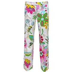 Gucci by Tom Ford floral cotton pants, c. 1999