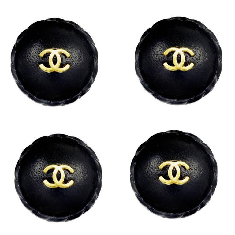 Unusual Chanel Leather Covered Buttons