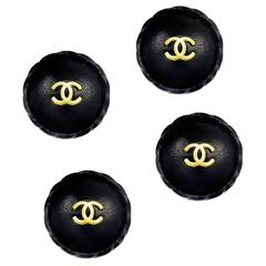 Rare Chanel Leather Covered buttons