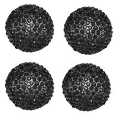 Magnificent Black Crystal Chanel Buttons