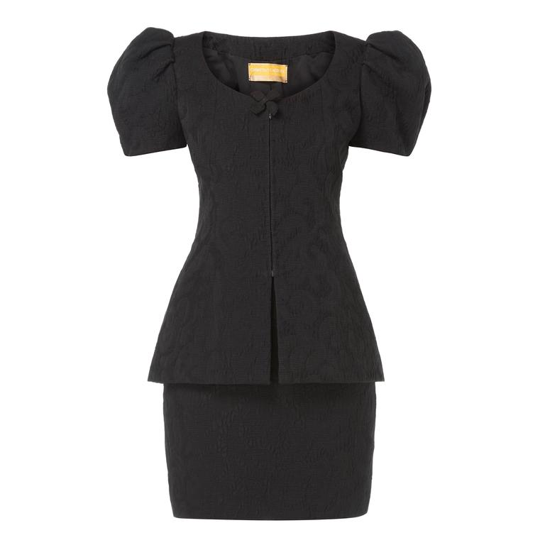Christian Lacroix black matelassé skirt & top, Spring/Summer 1988 1