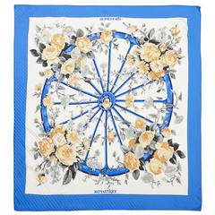 1970s 'Romantique' Hermes Pleated Silk Scarf