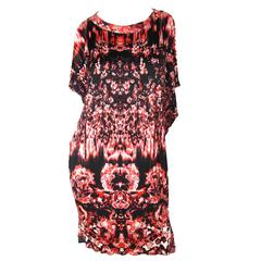 Jean Paul Printed Fire/ Roses Dress - sale