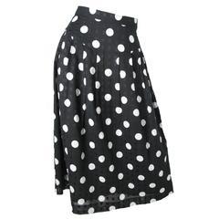 Geoffrey Beene Polka Dot Skirt