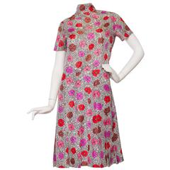 1960s Floral Chanel Haute Couture Dress