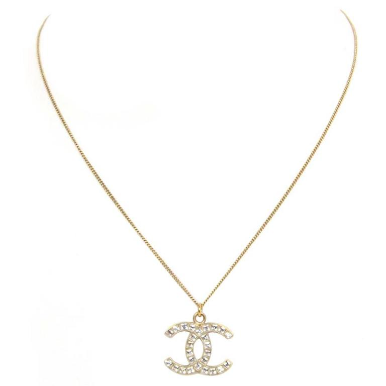 chanel cc pendant necklace for sale at 1stdibs