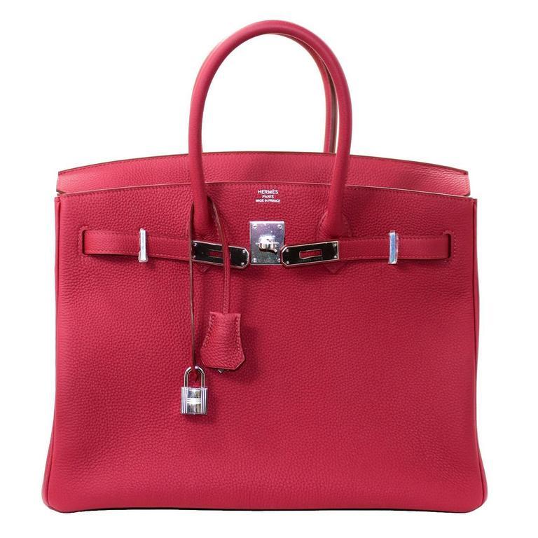 Hermès Rubis Togo Birkin Bag- 35 cm, PHW Ruby Red 1