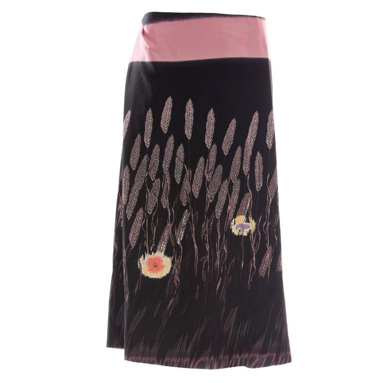 Prada Cotton - Silk Lightweight Skirt, Spring - Summer 1998 For Sale
