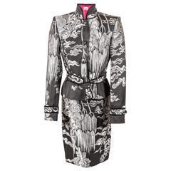 Tom Ford for Yves Saint Laurent Fall 2004 Chinoiserie Suit Jacket & Skirt