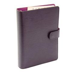 Louis Vuitton Agenda Fonctionnel MM Cassis Purple Epi Leather Agenda Cover