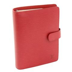 Louis Vuitton Agenda Functionnel MM Red Epi Leather Agenda Cover