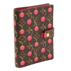 Louis Vuitton Agenda Fonctionnel PM Cerises Monogram Canvas Agenda Cover LJ977