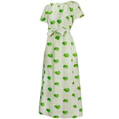 Courreges Polished Cotton Watercolor Print Day Dress