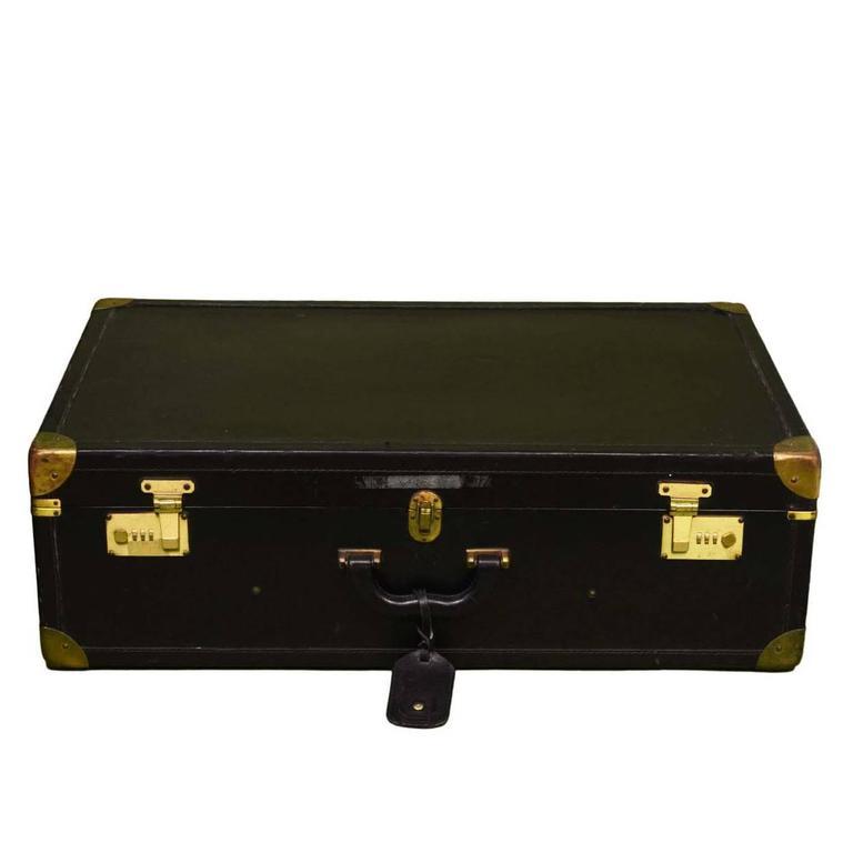 Bottega Veneta Black Vintage Coated Canvas Hard Suitcase BHW 1