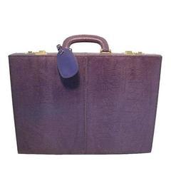 GUCCI Royal/Purple Lizard Briefcase